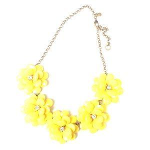 J Crew Yellow Flower Necklace